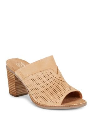 Majorcamul Perforated Leather Mules by TOMS