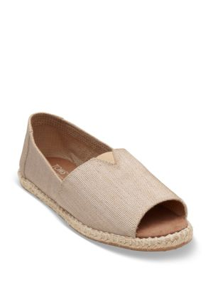 Alpargata Canvas Open Toe Espadrilles by TOMS
