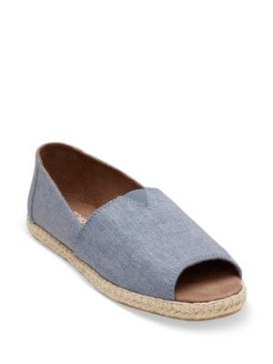 Alpargata Denim Open Toe Espadrilles by TOMS
