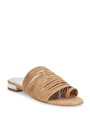 Frea Strappy Cork Sandals by Donald J Pliner
