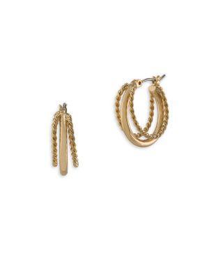 Perfect Pieces 12K Gold Triple Hoop Earrings 500035001858