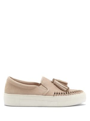 Kayleena Safari Leather Sneakers by Vince Camuto