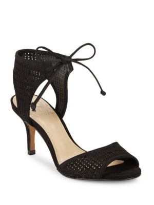 Kanara Lasercut Leather Heels by Vince Camuto