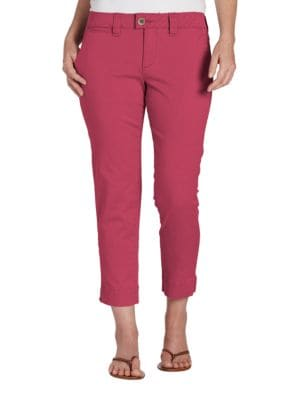 Cropped Solid Pants @...