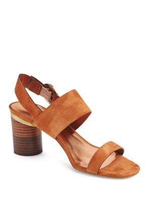 Azmara Suede Block Heel Sandals by Ted Baker London