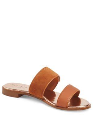 Ijoe Suede Slide Sandals by Ted Baker London