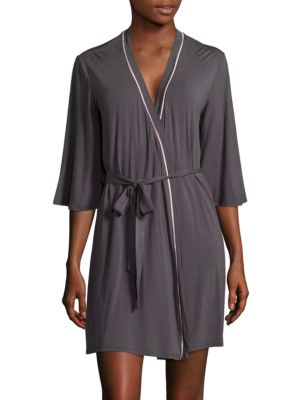 Embroidered Three-Quarter-Sleeve Robe by Pj Salvage