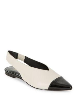 Alanna Leather Slingback Flat by Calvin Klein