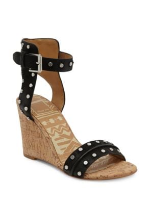 Dante Leather Wedge Sandals by Dolce Vita