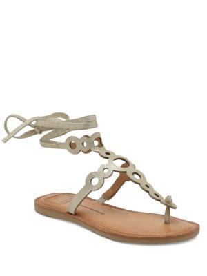 Jorell Leather Flat Sandals by Dolce Vita
