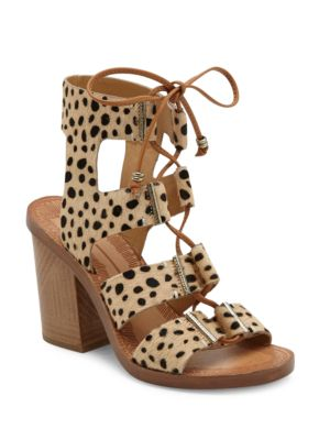 Witley Calf Fur Ghillie Lace Sandals by Dolce Vita
