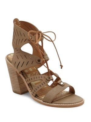 Luci Leather Cutout Ghillie Lace Sandals by Dolce Vita