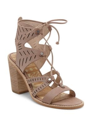 Luci Leather Ghillie Lace Sandals by Dolce Vita