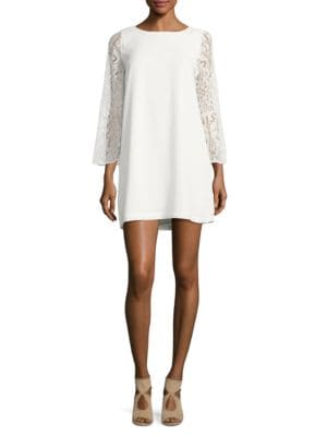 Lace Jewelneck Dress by BB Dakota