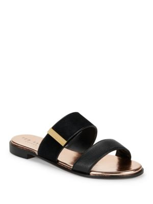 Ijoe Leather Slip-On Sandals by Ted Baker London