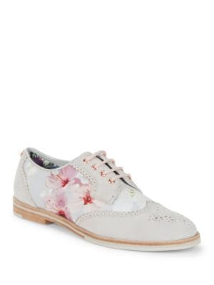 Allea Floral Wingtip Oxfords by Ted Baker London