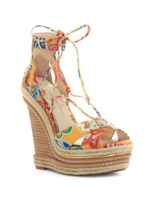 Adyson Printed Wedge Sandals by Jessica Simpson