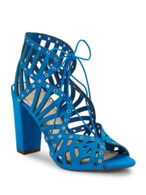 Emagine Leather Ghillie Lace Cage Sandals by Jessica Simpson
