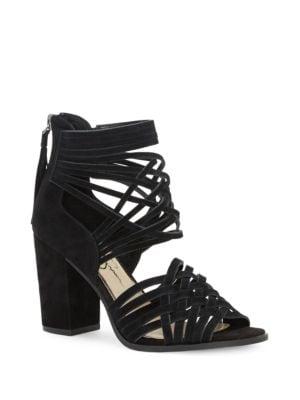 Reilynn Tassel Suede Sandals by Jessica Simpson