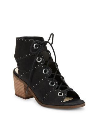 Ryanna Leather Block Heel Sandals by Jessica Simpson