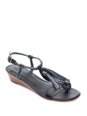 Court Leather Demi Wedge Sandals by Bernardo