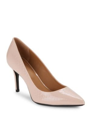 Gayle Leather Point-Toe Pumps by Calvin Klein