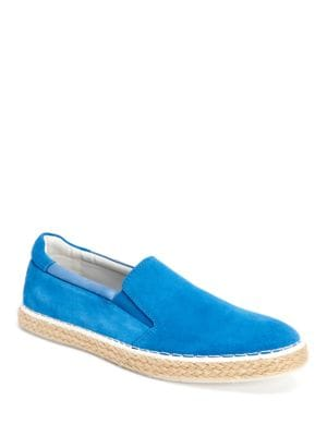 Piper Oily Suede Slip-On Espadrille Shoes by Calvin Klein