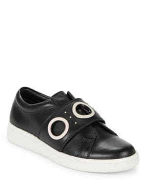 Buy Danette Slip-On Leather Sneakers by Calvin Klein online