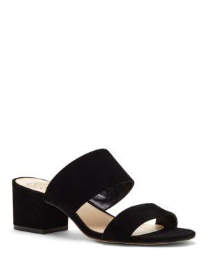 Franine Leather Slide Sandals by Vince Camuto