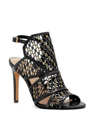 Buy Korthina Embellished Cage Sandals by Vince Camuto online