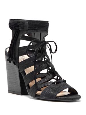 Ranata Leather Zippered Sandals by Vince Camuto