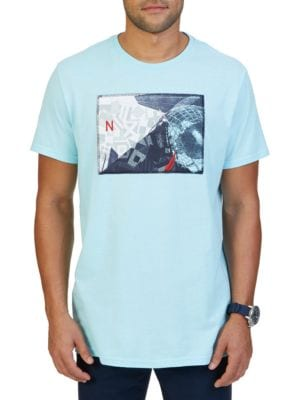 Collage Graphic Print Crewneck Tee by Nautica Big And Tall
