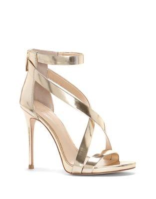 Devin Metallic High Heel Sandals by Imagine Vince Camuto