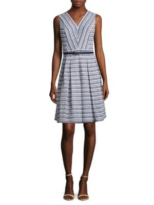 Striped V Neck Dress by Tommy Hilfiger