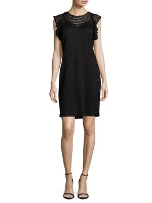 Solid Lace Sheath Dress by Tommy Hilfiger