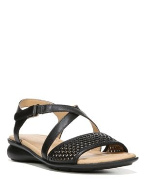 Buy Juniper Cutout Leather Sandals by Naturalizer online