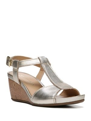 Camilla Leather Wedge Sandals by Naturalizer