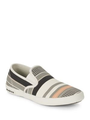Baja Striped Canvas Sneakers by Seavees
