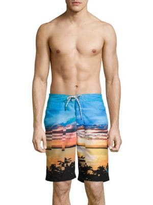 Tropical Print Swim Shorts by Tommy Bahama