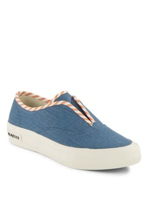 Sunset Regatta Striped Sneakers by Seavees