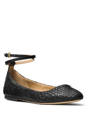Dunbar Woven Leather Flats by Michael Kors Collection