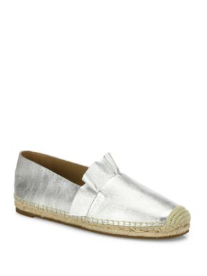 Laticia Ruffled Metallic Leather Espadrilles by Michael Kors Collection