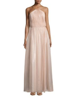 Pleated Halter Gown by Kay Unger