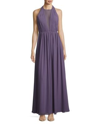 Chiffon Halter Gown by Vera Wang