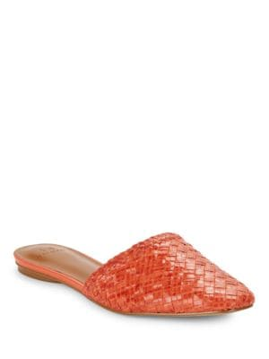 Gwen Woven Leather Mules by H Halston