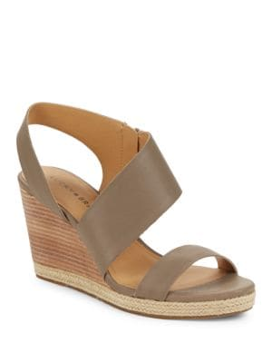 Lowden Leather Wedge Sandals by Lucky Brand