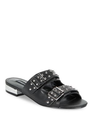 Punk Studded Slip-On Sandals by Design Lab Lord & Taylor