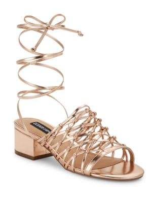 Mya Lace-Up Sandals by Design Lab Lord & Taylor