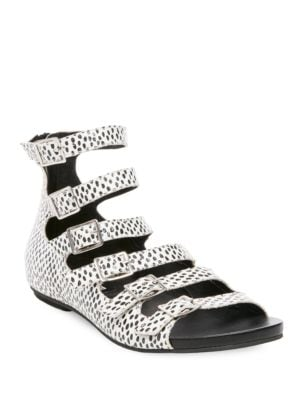 Dot-Print Leather Sandals by Design Lab Lord & Taylor