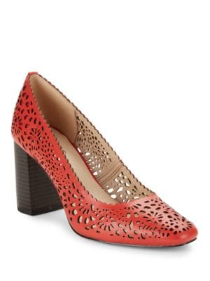 Buy ??ora Cutout Leather High-Heels by IMNYC Isaac Mizrahi online